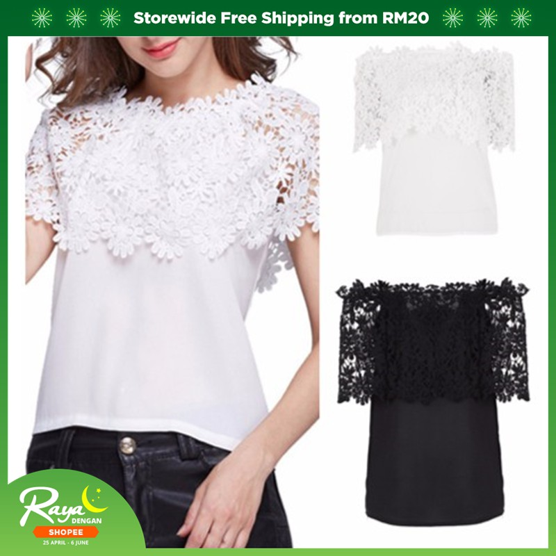 5aa3623a87 Buy Tops Online - Women Clothes | Shopee Malaysia