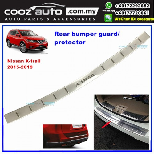 Trunk Kick Plates Tread Plate Sill For Qashqai J11 2016 2017 2018 2019 Car Styling Accessories ASDDD Stainless Steel Car Rear Guard Bumper Protector Trim Cover Stickers