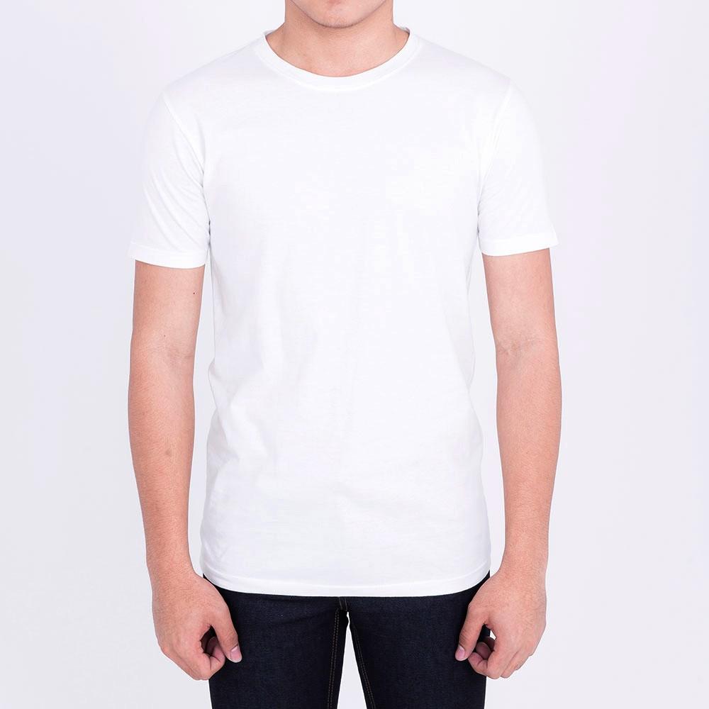 เสื้อยืดสีขาว ผ้าcotto