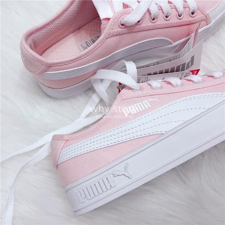 2018 Original arrival Puma SMASH V2 VULC CV canvas shoes sneakers 365968  women lady  44da79d59d8b