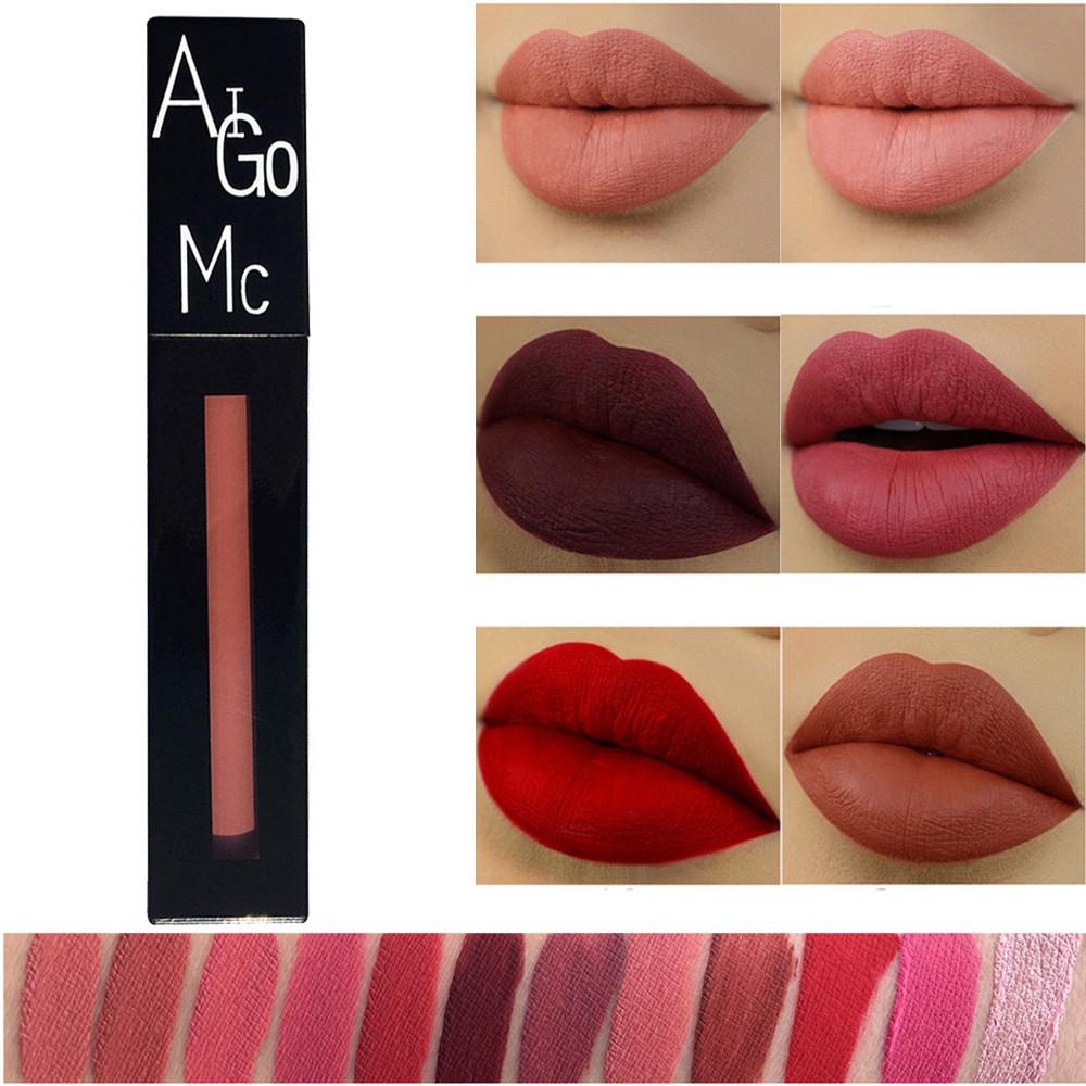 New Fashion Lipstick Cosmetics Women Sexy Lips Matte Lasting Lip Gloss Party