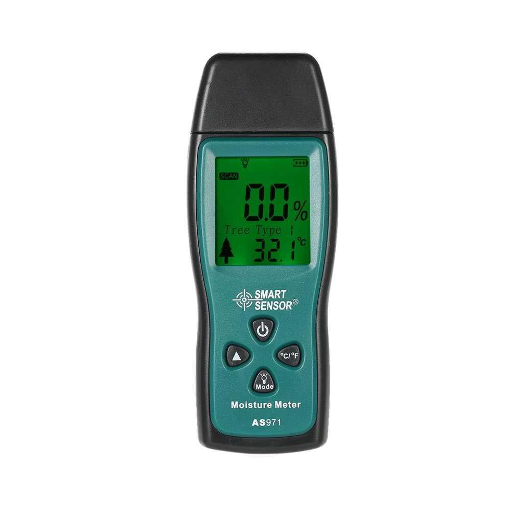 SMART SENSOR Handheld Mini Wood Moisture Meter Digital LCD Lumber Damp Meter