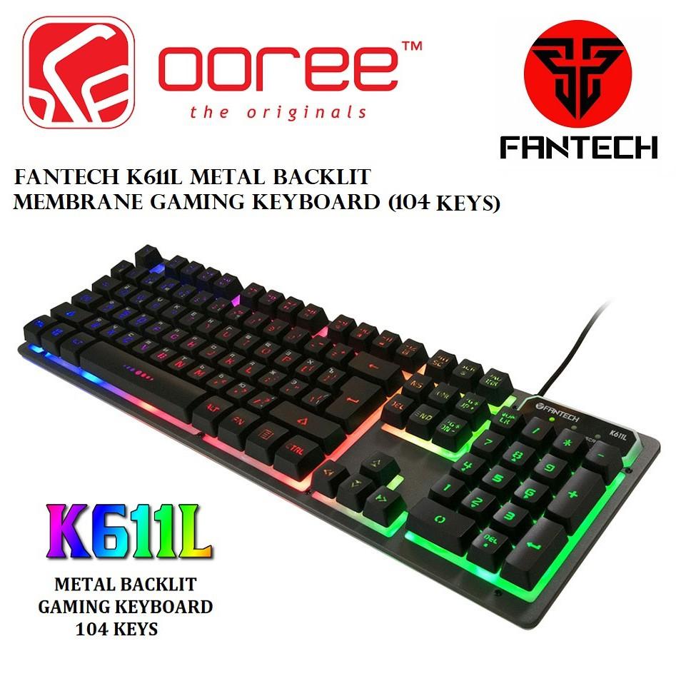 567513cbf40 ORIGINAL FANTECH FIGHTER K611L Full Size Backlit Floating-Keys Gaming  Keyboard-P   Shopee Malaysia
