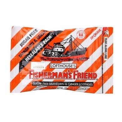 Fisherman's Friend Sugarfree Mandarin & Ginger Lozenges 25G