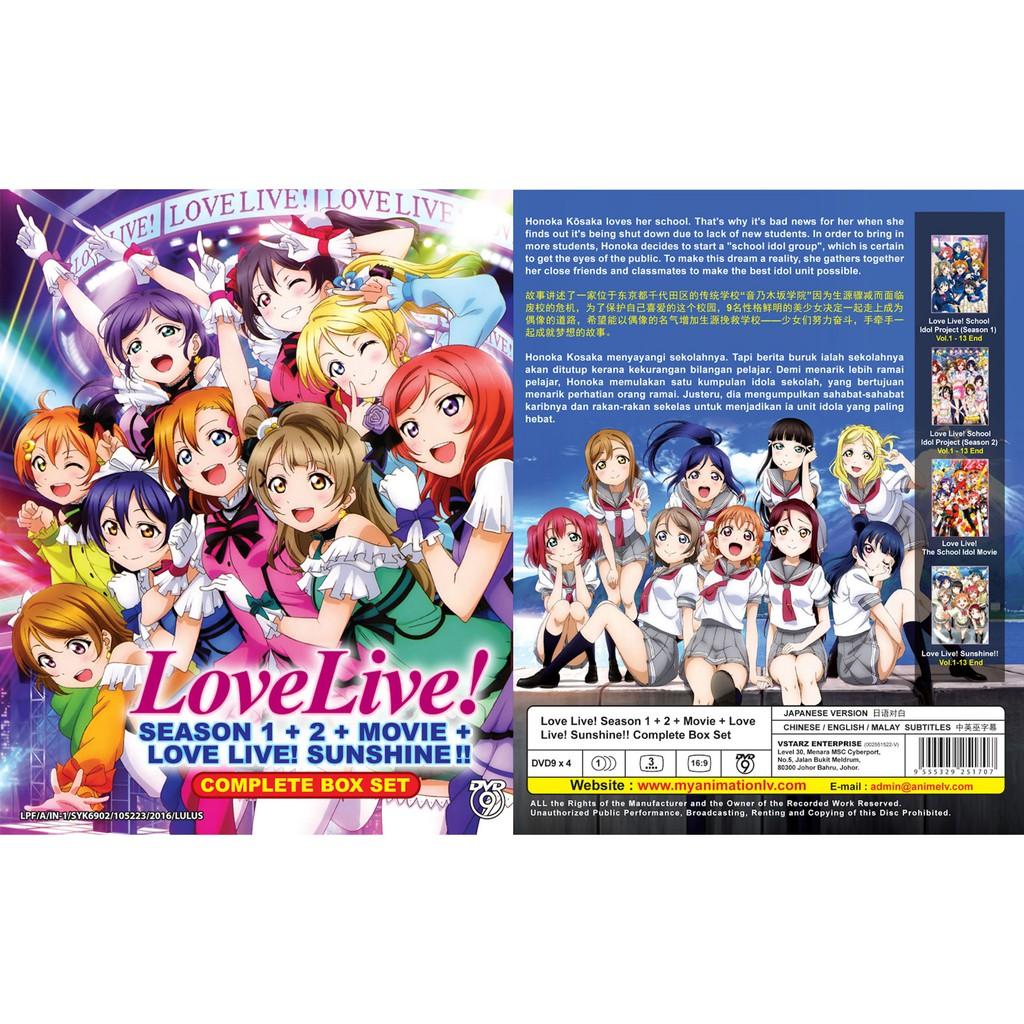 ANIME DVD ~ Love Live ! Season 1+2+Sunshine(1-39End)
