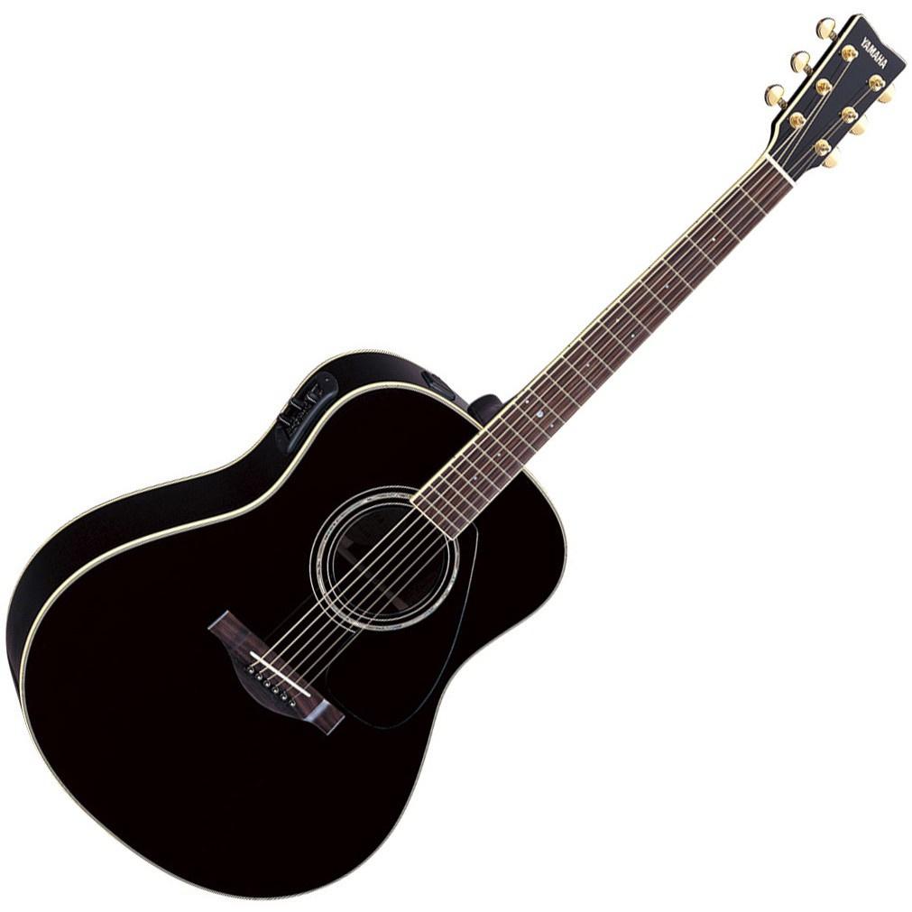 Yamaha Semi-Acoustic Guitar LLX6A BL Black guitar acoustic accoustic guitar Music instrument Gitar
