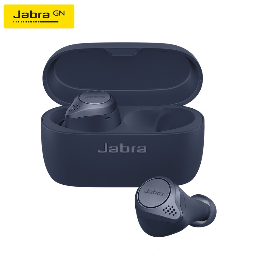 Jabra Elite Active 75t With Active Noise Cancellation. Great music and calls, waterproof and designed for sport.