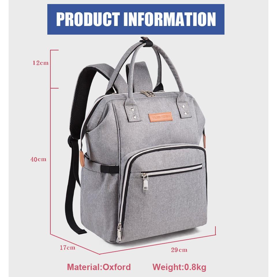 INSULAR Multifunctional Mummy Bag Single Shoulder Baby Diaper Bag Nappy Bag G9