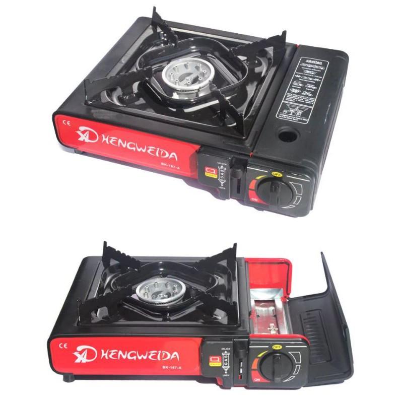 FREE BOX] Premium Quality Portable Gas Cooker Stove Mini Cooking瓦斯卡式炉 户外烹饪烧烤炉 野炊露营野营