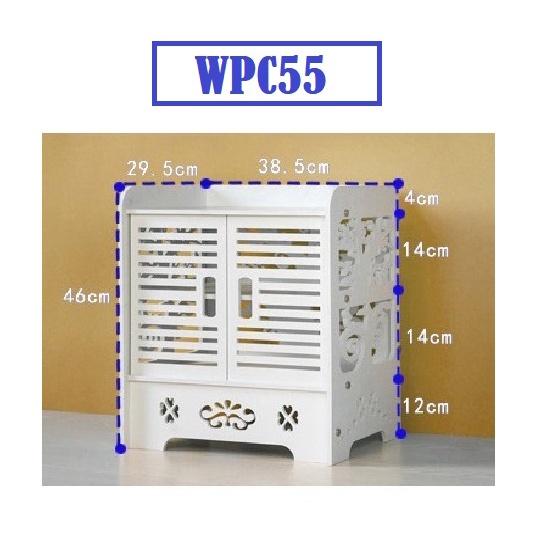 [ READYSTOCK ]  White WPC Board Storage Cabinet Shelf Waterproof Proof Storage Box Almari Jualan Murah Furniture Perabut