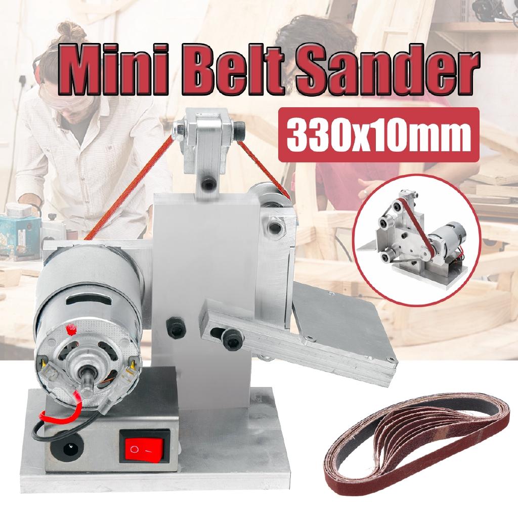DIY Mini Belt Sander Sanding Polishing Grinding Machine Belts Electric Grinder