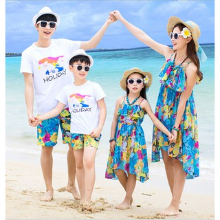 83b49a4d6f Mother and Daughter Bohemia Maxi BeachDress Dad And Son Beach Outfit Family  Set