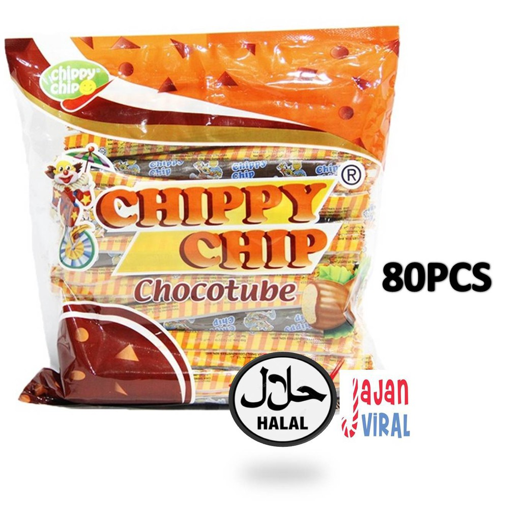 [HALAL] CHIPPY CHIP CHOCOLATE TUBE-80PCS