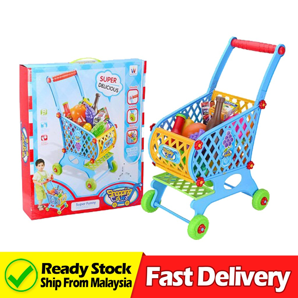 Amiable Mini Shopping Cart Toy Cart Simulation Supermarket Shopping Cart Storage Pretend Play Cake Decoration Accessories Cake Decorating Supplies Event & Party