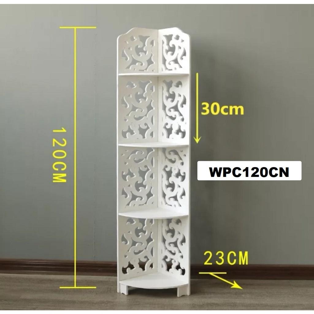 [ READY STOCK ]  Waterproof Wpc Bathroom Shelf Toilet Corner Storage Rack Perabut Furniture Jualan Murah Simpanan Almari