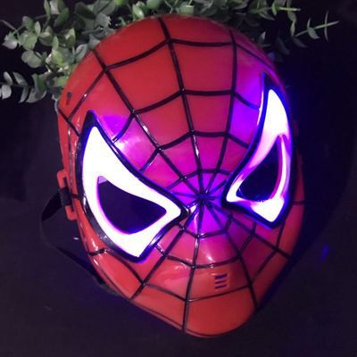 Spiderman Mask Masquerade Mask LED Mask And Glove Colour pencil,