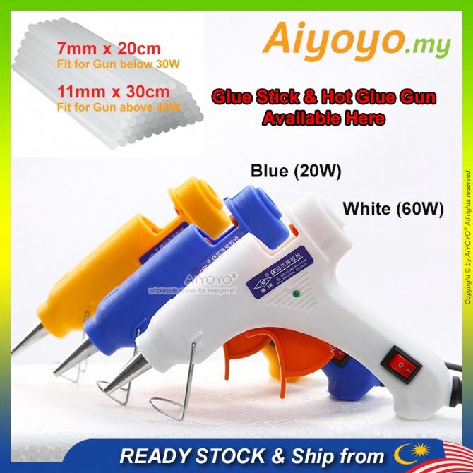 20W 60W Hot Glue Gun Hot Melt Glue Gun Hot Melt Stick Hot Glue Stick Gam Pistol Gam Panas Silicon Glue Hot Glue Gun Stic