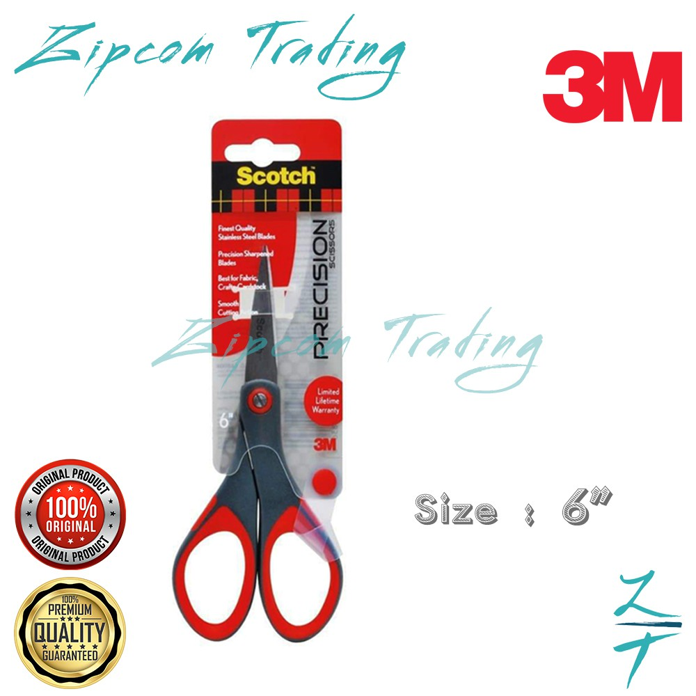 """3M Scotch Precision Scissors With Stainless Steel Blade ( 6"""" /8"""" )"""