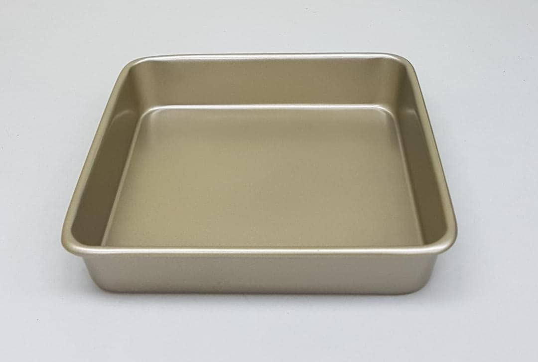 24cm Gold Colour Non-Stick Square Cake Pan/ Cake Tin