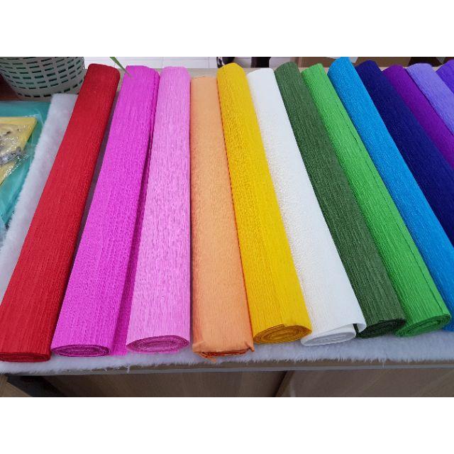 Hard Crepe Paper (50cm lebar x +/- 2.5meter) 1 roll