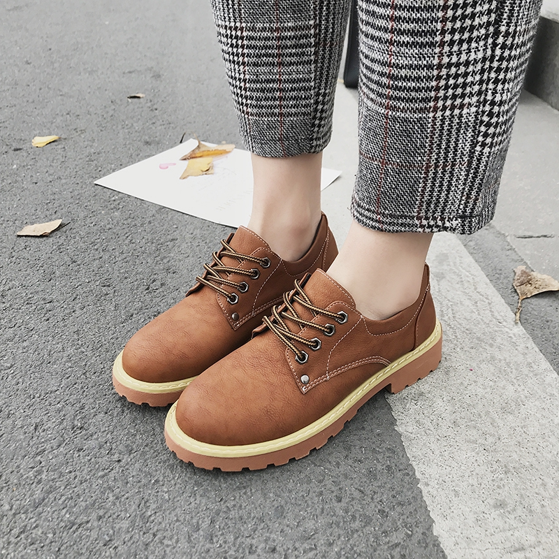 fd0b53beee3d6 Women's Leather Perforated Lace-up Oxfords Shoes Derby Wingtip ...