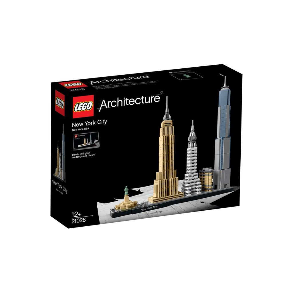 Lego Architecture 21028 New York City Usa Shopee Malaysia Loz 9387 Nano Blocks Statue Of Liberty