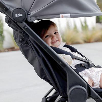 Ergo Baby: Metro Compact City Stroller - Grey ( FREE STROLLER CARRY BAG )