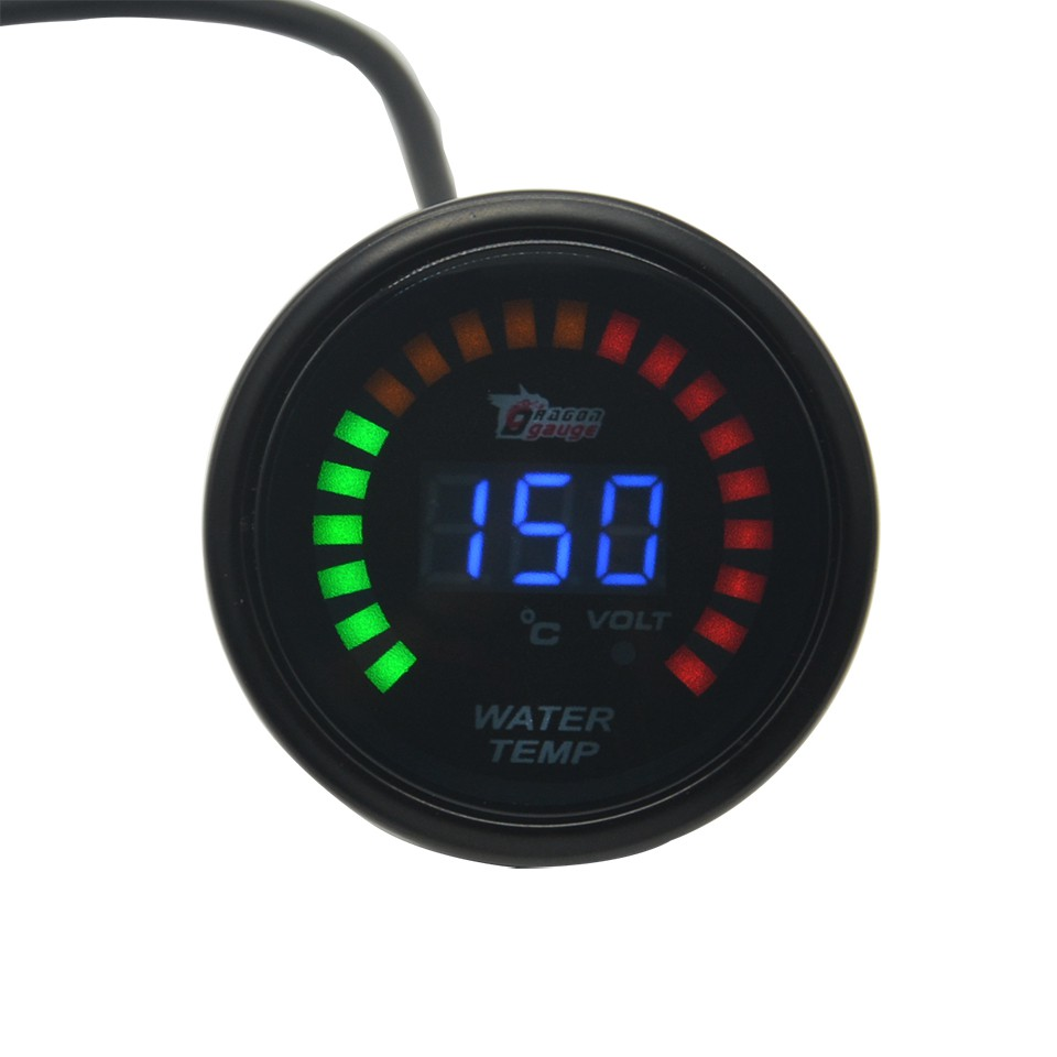 52mm Car Electrical Digital Oil Pressure Meter Gauge with Sensor 40-140℃
