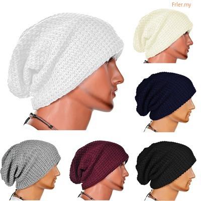 9d6995148 FR◕◕ Men Knit Slouch Long Baggy Beanie Winter Warm Oversize Skull Ski