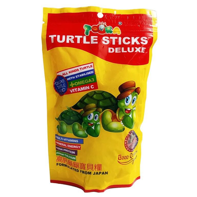 TOPKA Turtle Stick Deluxe, Turtle Food,  Kura kura pellet Kura kura Makanan Tortoise 100g