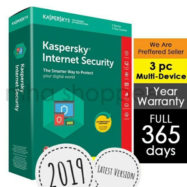 Kaspersky Internet Security 2019 3pc | Shopee Malaysia