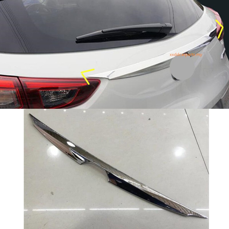 For Mazda CX-3 CX3 2016-2018 Chrome Rear Trunk Tailgate Boot Door Lid Cover Trim