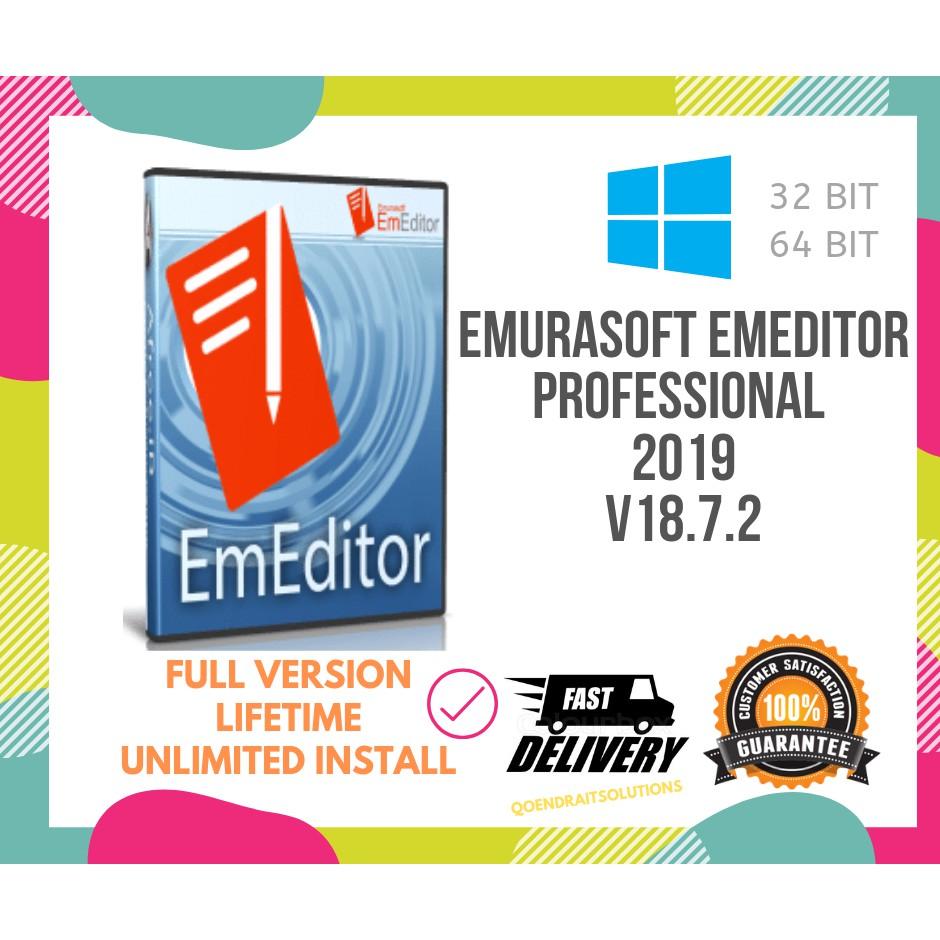 🔥HOT🔥 Emurasoft EmEditor Professional v18 7 2 2019 Full Version