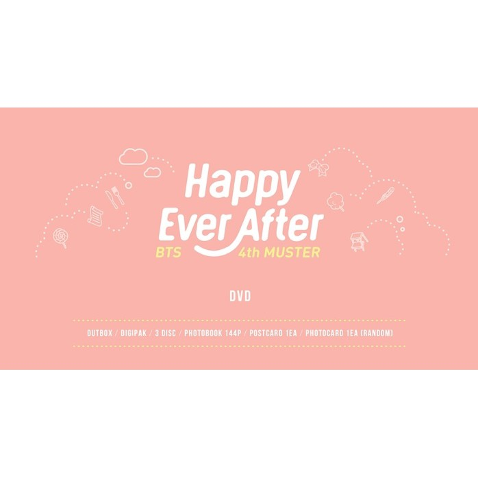 💘Ready To Stock💘BTS 4th MUSTER [Happy Ever After] DVD | Shopee