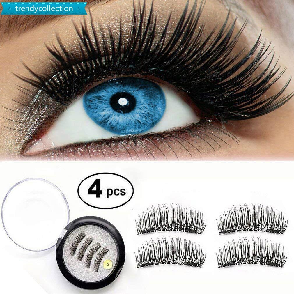 72d3708214e 4 Pcs/Set Magnetic False Eyelash Double Magnet Magnetic Lashes Natural  Eyelashes