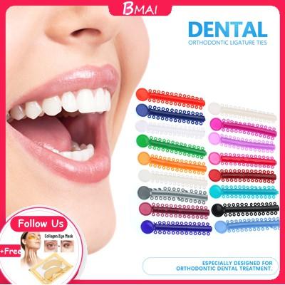 Dental Teeth Orthodontic Rubber Ligature Brace Multi Color 40pcs