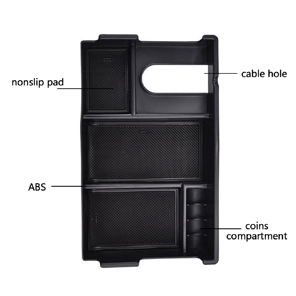 Armrest Organizer New Box Tray Center Console Storage for Toyota Tundra 2014-18