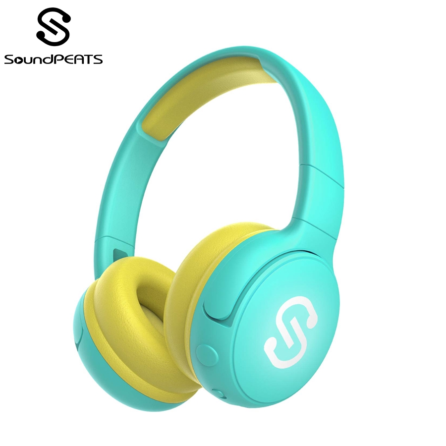 SoundPEATS Kids Bluetooth Wireless Headphones Stereo Sound 85db Volume  Limited Built-in Mic Over-Ear Children Headsets