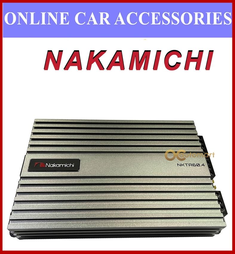 NAKAMICHI 4 Channel Car Amplifier 1500 watts Bridgeable High Power Car Amplifier NKTA 60.4