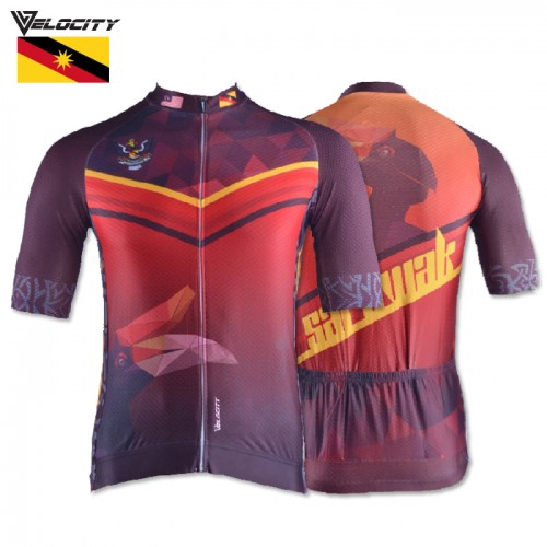 Velocity Velocool Unisex Polyster Cycling  Sarawak Jersey  V.1