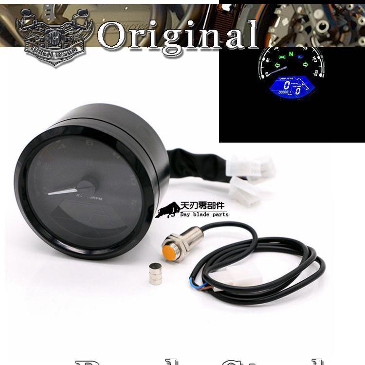 Motorcycle Baboon Liquid crystal instrument retrofit CG125 odometer speed  Oil me