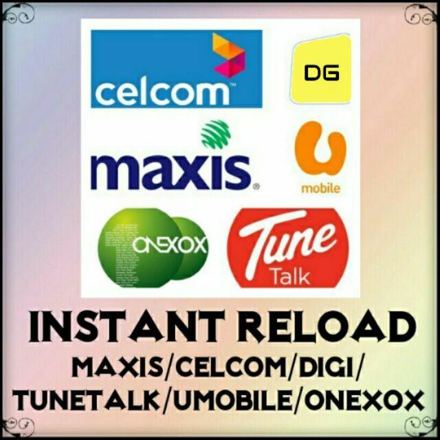 RM5 Top Up Instant Reload  Umobile/Maxis/Celcom/Tunetalk/Altel/Tron/Friendi/Xox