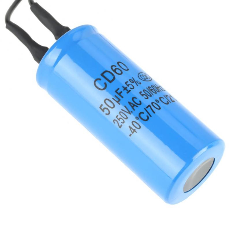250V AC 50//60Hz for Motor Air Compressor etc Run Capacitor 400uF,CD60 Lead Motor Start Run Capacitor,with Wire Lead