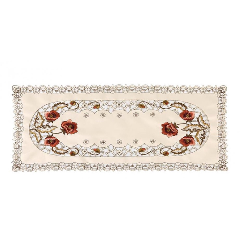 Reusable Oval Vintage Embroidered Lace Tablecloth Floral Table Cloth Mat Sale