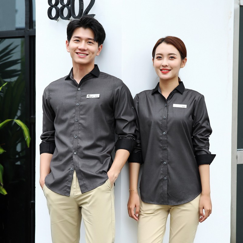Milk Tea Pot Hotel Front Desk Cashier Waiter Overalls Long Sleeved West Dining Cafe Qiu Dong Outfit Female Shopee Malaysia