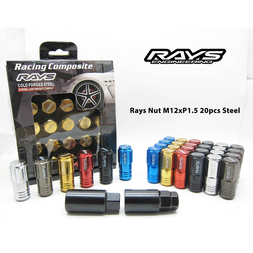 Rays Racing Wheel Nut LONG Steel Heavy Duty Tyre Rays Nut M12xP1 5 20pcs