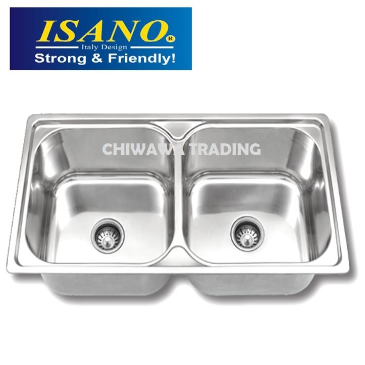 ISANO B300 Stainless Steel Kitchen Sink Bowl Basin Drainer