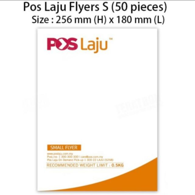 pos laju packaging flyer size s shopee malaysia