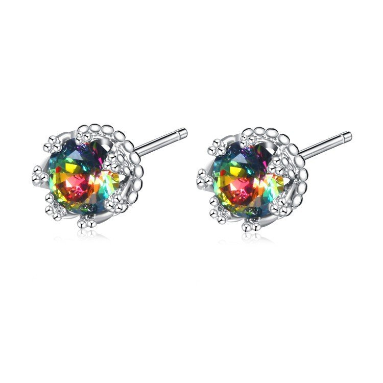 4522db120 ProductImage. ProductImage. ROXI Exquisite color Crystal Earrings Color CZ Stud  Earrings