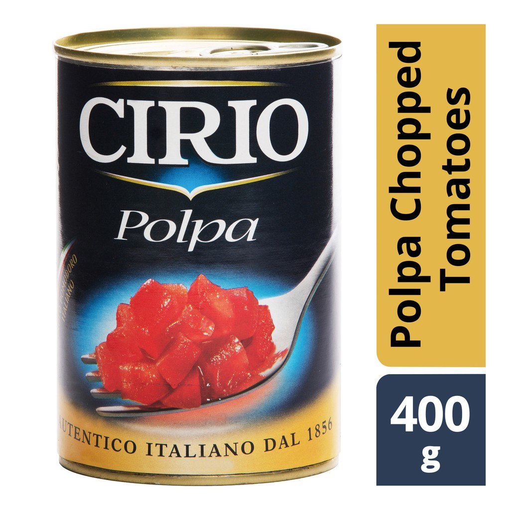 100% PURE CHOPPED TOMATOES CIRIO POLPA 400G